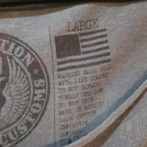 Affliction Tops - Affliction Fallen Angels grey shirt size Large